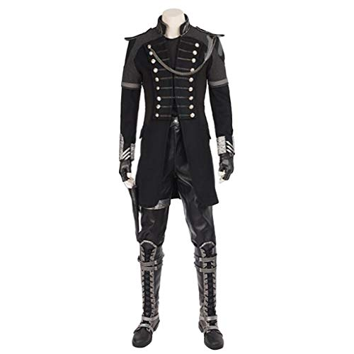 Film Final Fantasy 15 Anime King's Sword COS Kleidung Komplettset Kinder Cosplay Military Wear Stiefel Maßgeschneidert,Black-S(163to167)