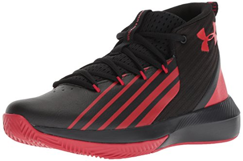 Under Armour Jungen UA BGS Lockdown 3 Basketballschuhe, Schwarz (Black/Red), 37.5 EU