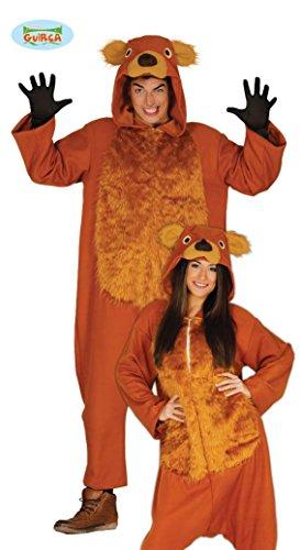 Teddy Bär Karneval Motto Party Kostüm für Erwachsene Braun Einteiler Gr. M - L, ()