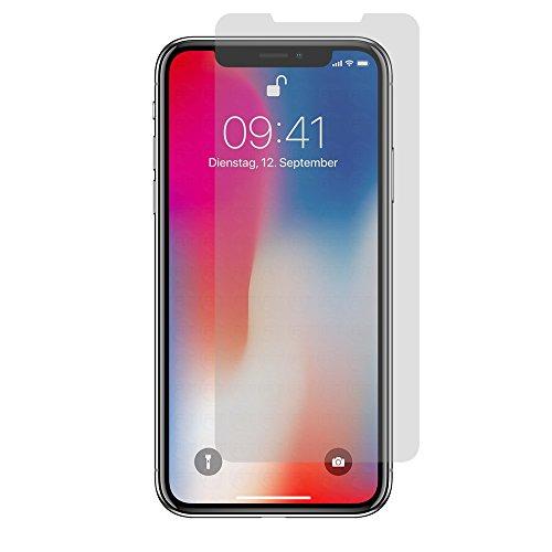 2x Apple iPhone X - Display Schutzfolie Matt Folie Schutz Display Anti Glare Screen Protector Displayfolie - RT-Trading Iphone Anti Glare Screen Protector
