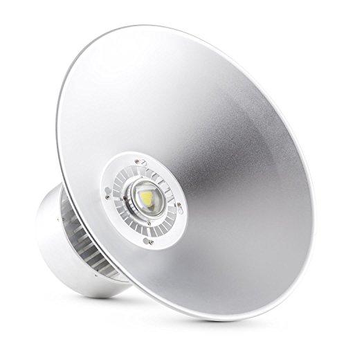 Lightcraft High Bright Industrielampe Deckenlampe LED-Industriestrahler für Hallen- und Industriebeleuchtung (50 Watt, 50cm Schirm, für Decke, Aluminium) neutralweiß -
