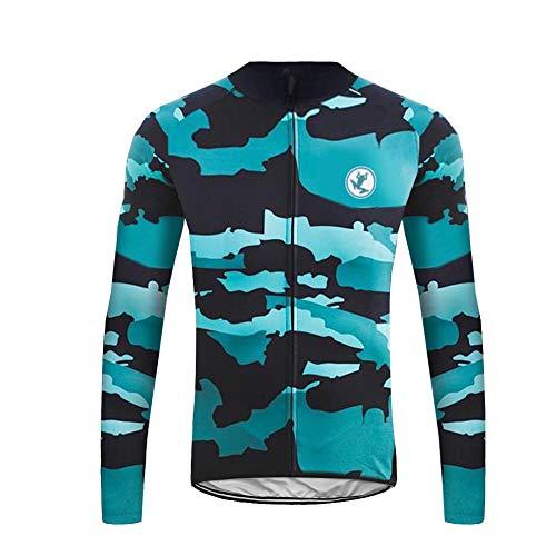 Uglyfrog Fahrradbekleidung, langärmlig, winddicht, Radtrikot + 3D lang und Hose für Herren Winter, Thermo Vello XS Color 19