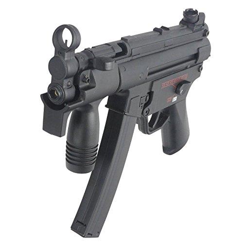 Softair Airsoft AEG G.5K Vollautomatik Maschinenpistole Metall Gearbox, max. 0,5 Joule, Set mit 1500x 0,2g Premium BBs (Poliert & Gradfrei)