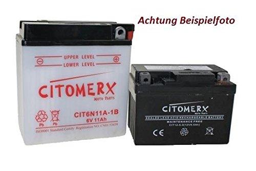 Batterie 6N12A-2D 6V 12AH für Roller/Motorrad inkl. Säure DIN: 01225 -