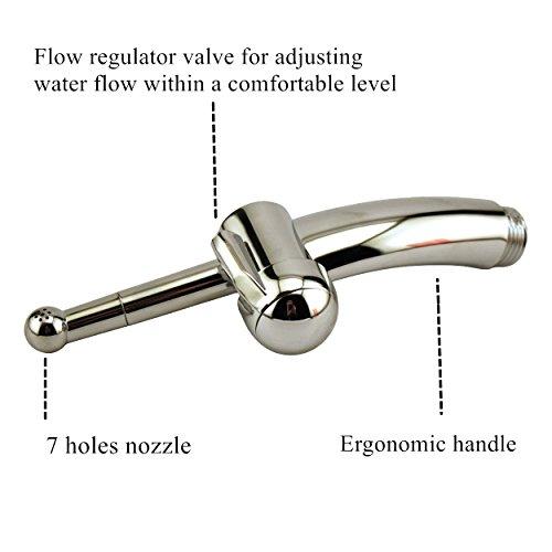 genmine 7Löcher Dusche Douche für Einlauf und Vaginal Abspülen, enemator Anal Sex Reinigung Dusche sowohl für Damen und Herren