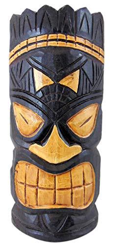 Westman Works Tiki Mask Wandschild aus Holz, handgeschnitzt, polynesisch, 28 cm