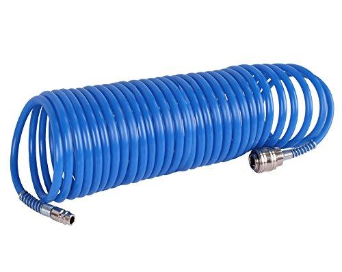 WELDINGER Druckluft-Spiralschlauch 10 m mit Schnellkupplung
