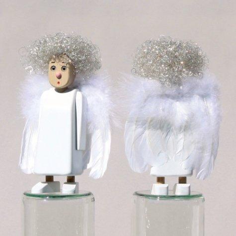 Meier Meier572.00en hêtre 23cm Angelika avec Ailes en Plumes et Cheveux d'ange