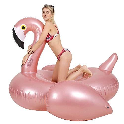 Gonfiabile fenicottero gigante salvagente gonfiabile piscina anello di nuoto fenicottero gonfiabile gonfiabile poltrona lounge materassino gonfiabili piscina rosa