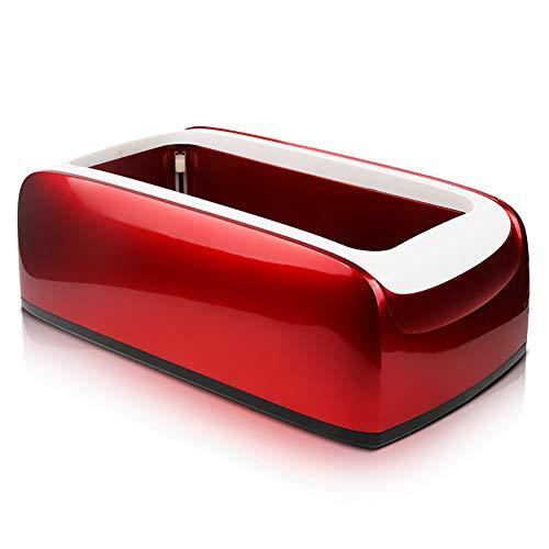 FHTDX Schuhabdeckmaschine Automatische Schuhabdeckmaschine Fußmaschine Fußfolie Fußmaschine Einweg-Schuhabdeckungsbox 40 * 22 * 15cm,Red