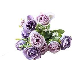 Lumanuby. Vintage Ramo de Flores de peonia Rosa Artificiales para Boda decoración para el hogar Boda Casa Jardín Cumpleños Fiestas