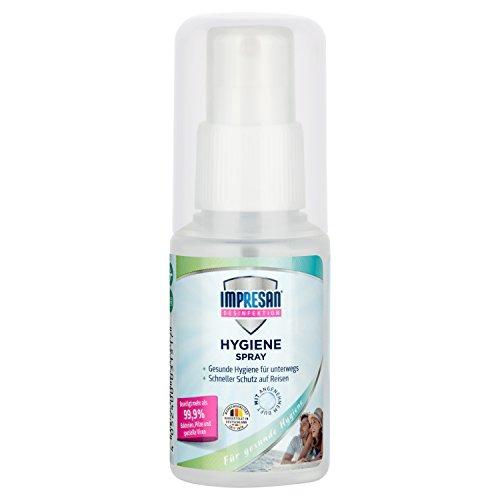 """Impresan Hygiene-Spray """"on-the-go"""" - Oberflächendesinfektion für unterwegs - Desinfektionsspray auch für Textilien - Desinfektionsmittel - 1 x 50ml"""