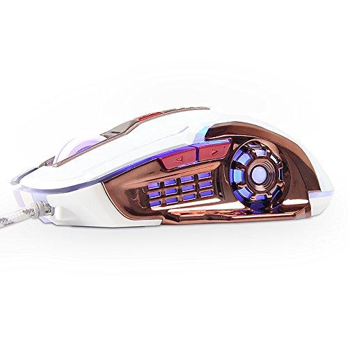 Gaming Maus, imjono luom X5Wired 4Farben Hintergrundbeleuchtung Lasermaus USB Optische Ergonomische Gaming Maus PC