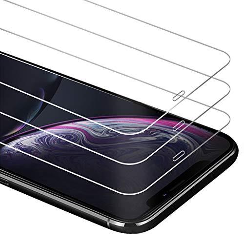 Zloer [3 Pièces] Verre Trempé iPhone XR Film Protection écran [9H Dureté] [Anti Rayures] [sans Bulles, Facile à Installer] pour Protection écran iPhone XR [Garantie de Remplacement à Durée de Vie]