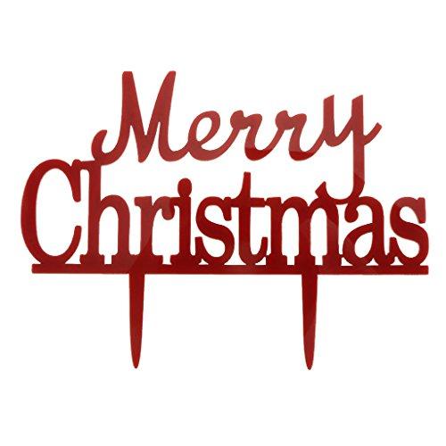 Kunststoff Rot Pick Frohe Weihnachten Kuchendeckel Weihnachts Dekorationen