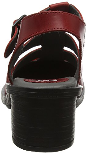 Fly London Cahy195fly, Scarpe Col Tacco Punta Chiusa Donna Rosso (Red)