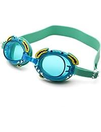 WANGJISHENG Gafas de Dibujos Animados, Gafas HD antivaho para niños, Gafas para niños con protección UV, Verde
