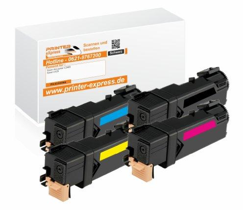 Preisvergleich Produktbild Printer-Express XL Toner 4er Set ersetzt Epson C13S050630, 0630 / C13S050629, 0629 / C13S050628, 0628 / C13S050627, 0627 Toner für Epson Acculaser C2900 C2900N C2900DN CX29 CX29NF CX29DNF / C 2900 C 2900N C 2900DN CX 29 CX 29NF CX 29DNF Drucker