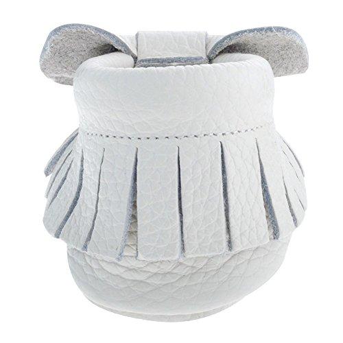 Lauflernschuhe Premium Weiß Babyschuhe Bow Krabbelschuhe Quasten Weichesleder Sayoyo 4qzw4I