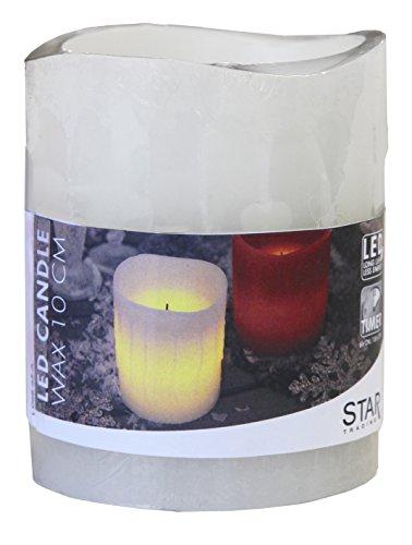 Star 10x 7,5cm vela LED de cera, color blanco