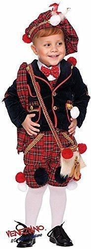 Italienische Herstellung Deluxe 7 Stück Baby &ältere Jungen Schottisch Dudelsack Spieler Karneval Rund um die Welttag des buches-tage-woche Halloween Kostüm Kleid Outfit 0-10 Jahre - Rot, 3 ()