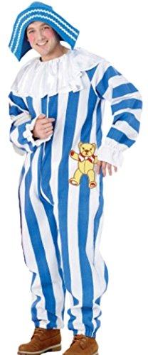 Zauberclown - Herren Karnevalskomplettkostüm Andy Pandy Cartoon Figur , XL, (Andy Kostüm Pandy)