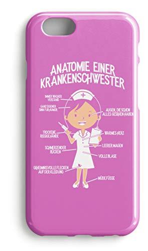 shirt-o-magic Handyhülle Krankenpflegerin: Krankenschwester-Anatomie - Case -iPhone 7 Plus-Pink