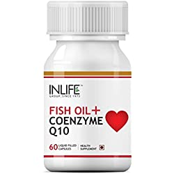 Inlife Fish Oil Omega 3 Coenzyme Q10 Supplement - 60 Capsules