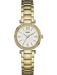 Guess Damen-Armbanduhr Analog Quarz Edelstahl W0767L2