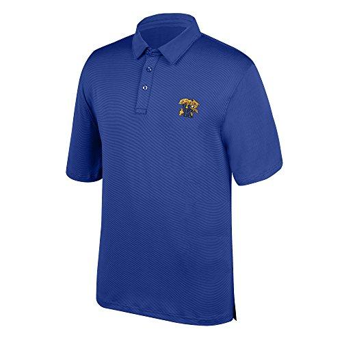 J. America Herren NCAA Yarn Dye Gestreift Polo, Herren, 16077_8010, königsblau, XXL -
