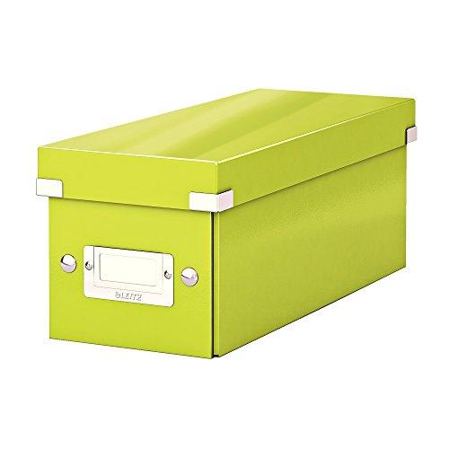 Leitz CD Aufbewahrungsbox, Grün, Mit Deckel, Click & Store, 60410064