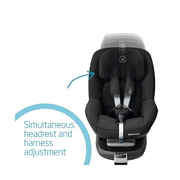 Maxi-Cosi Pearl Toddler Car Seat Group 1, ISOFIX Car Seat, Compact, 9 Months-4 Years, 9-18 kg, Scribble Black Maxi-Cosi Isofix anchorages provides the safest, easiest and quickest way to install a car seat  Innovative stay open harness stays open to easily get the child in and out in seconds  Very easy adjustment of safety harness and headrest height  4