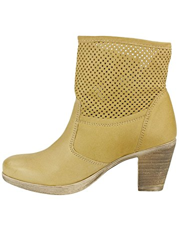 Shoot shoes donna estivo breve gambo Stiefelette SH-15040 Trend stivaletti in pelle Beige (Spago (hellbraun))