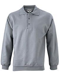 JAMES & NICHOLSON Sweat-shirt polo manches longues
