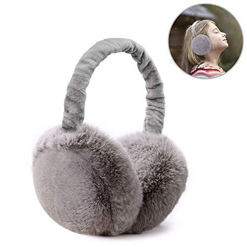 Bag Assembly (omitium Ohrenschützer Faltbar Ohrenwärmer Unisex Warme Earmuffs Einstellbare Winter Plüsch Ohrenschützer für Damen und Herren, Grau)