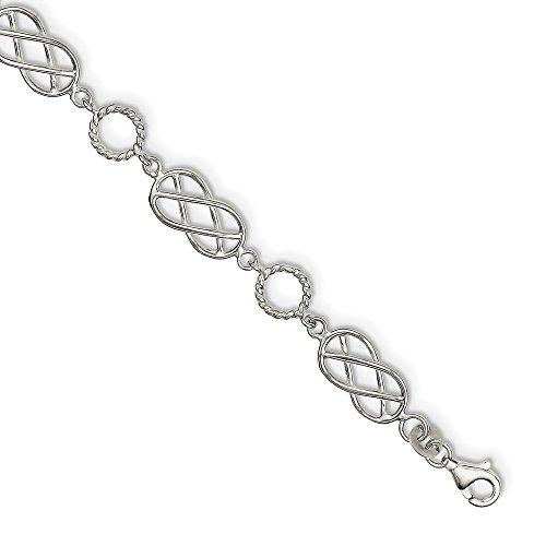 Sterling Silber Brezel & Kreis Armband