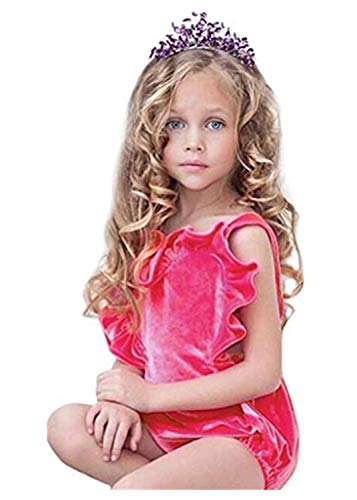 MRURIC❀ Bekleidungsset Neugeborene Baby Mädchen Farbe solide Rüschen Rückkreuzspielanzug Bodysuit Outfits Set Kleidung Set mit Spielanzug Set Spielanzug Sommer Bodys Einteiler Kleidung