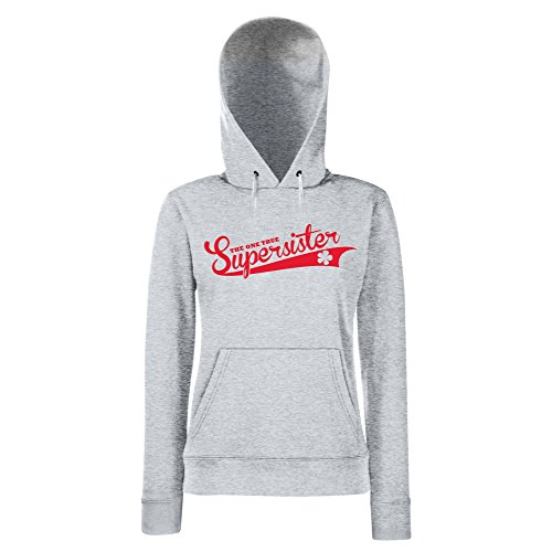 Damen Hoodie - The one true Supersister - von SHIRT DEPARTMENT Schwarz-Gold