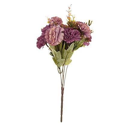 2 Manojo Plantas Flores de Crisantemos Artificial Ramo Decoración Hogar Patio