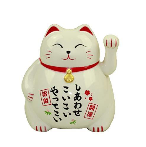HAAC Gato de Gato de la Suerte Amuleto Color Blanco 10cm