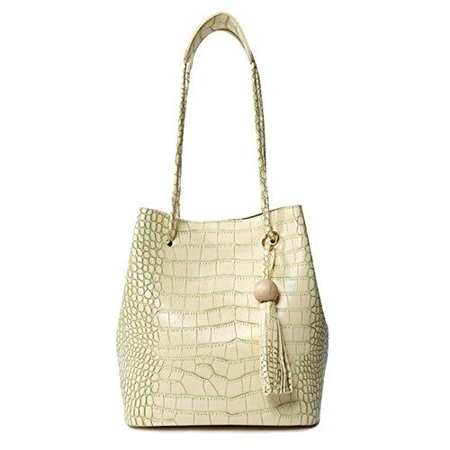 LI&HI Damen fashion vintage elegant Leder Krokodil Korn Quaste Clutch Handtaschen Schulterbeutel Abendtaschen