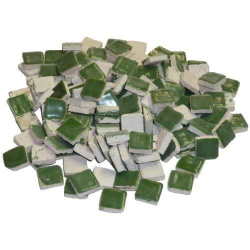 Mosaix 10 x 10 x 3 mm 70 g Mosaïque en céramique émaillée Maxi 150 pièces, Vert