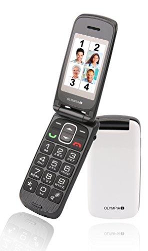 Cellulare per anziani, con tasti grandi, Olympia Classic Premium, bianco