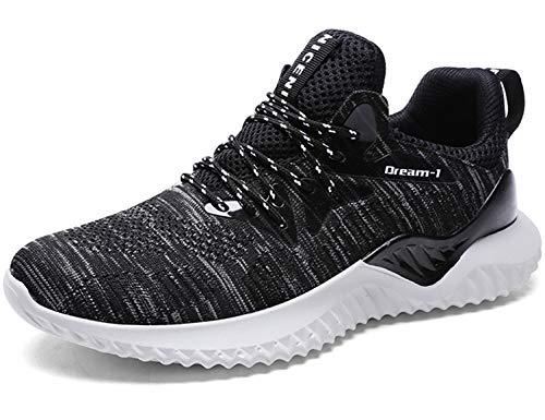 SINOES Herren Laufschuhe Luftkissen Turnschuhe Running Sneaker Bequeme Straßenlaufschuhe Sportschuhe Leichte Laufschuhe