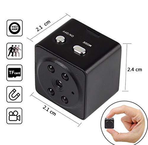 Mini Spy Versteckte Kamera, 1080P Tragbare Kleine HD Nanny Cam mit Nachtsicht und Bewegung Detektiv, Perfekte Indoor Covert Überwachungskamera Für Haus und Büro (Kamera Für Autos Geheimen)