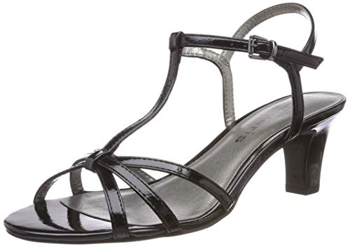 Tamaris Damen 1-1-28329-22 Riemchensandalen, Schwarz (Black PATENT 18), 37 EU 1 Black Patent Schuhe