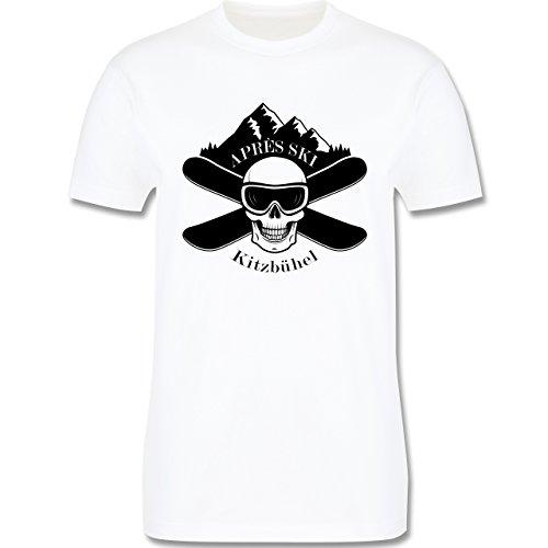 Après Ski - Apres Ski Kitzbühel Totenkopf - Herren Premium T-Shirt Weiß