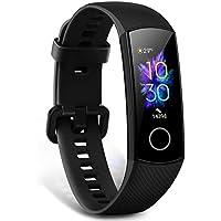 HONOR Band 5 Montre Connectée Bracelet Connecté SpO2 Blood Oxygen Podometre Cardio Montre Intelligente 5ATM Résistance à l'eau Smart Watch Android iOS Smartband, Noir