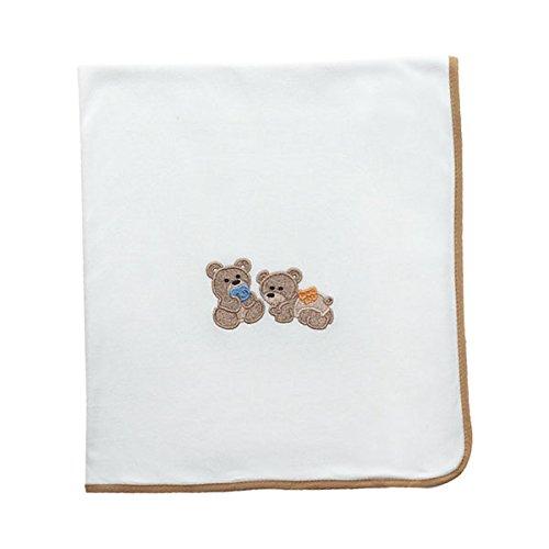 Arrullo para bebé punto de algodón (80x80 cm) BABY FRIENDS Beige