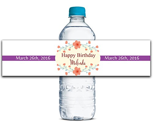 Personalisierte Wasserflasche Etiketten Selbstklebende wasserdichte Benutzerdefinierte Birthda Aufkleber 8